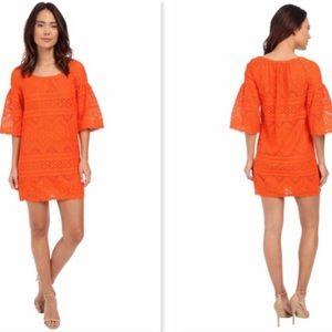 Trina Turk | Women's Orange Lace Lev Dress Size 2